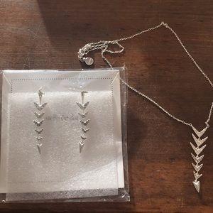 Stella & Dot Arrow Drop Set earrings and necklace
